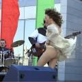 【ハプニング画像】ふわっと風が吹いた瞬間、ふわっとスカートがめくれ上がる!