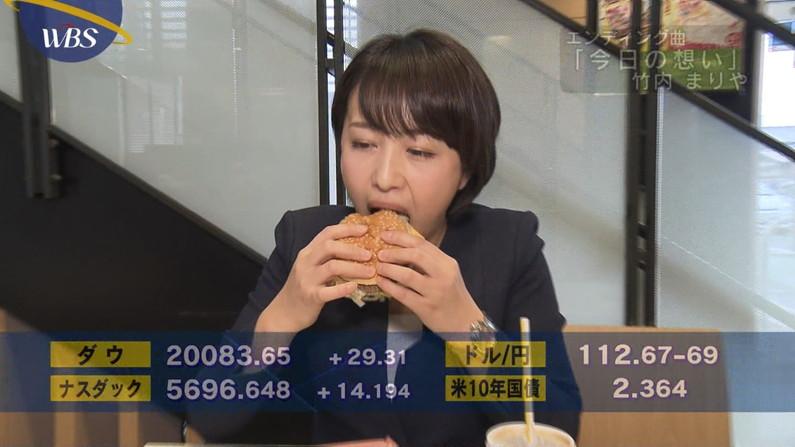 【擬似フェラキャプ画像】食レポの時にどうしてもエッチな顔になっちゃう女子アナ達w