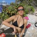 【水着キャプ画像】オッパイが水着からはみ出しまくりw思わず水着をズリ下げたくなる巨乳アイドル達w