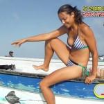 【水着キャプ画像】ナイスボディーのセクシータレントの水着姿がテレビで映りまくりw