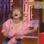 【胸ちらGIFキャプ画像】タレント達の胸ちらする瞬間をGIFで見たらエロさ倍増するぞw