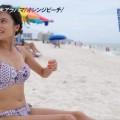 【水着キャプ画像】水着タレントの稼ぎ時!テレビにエロい水着着た美女達が映りまくってるぞw