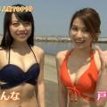 【水着キャプ画像】水着姿のタレント達が水着からハミ乳しまくってやばいんだけどw