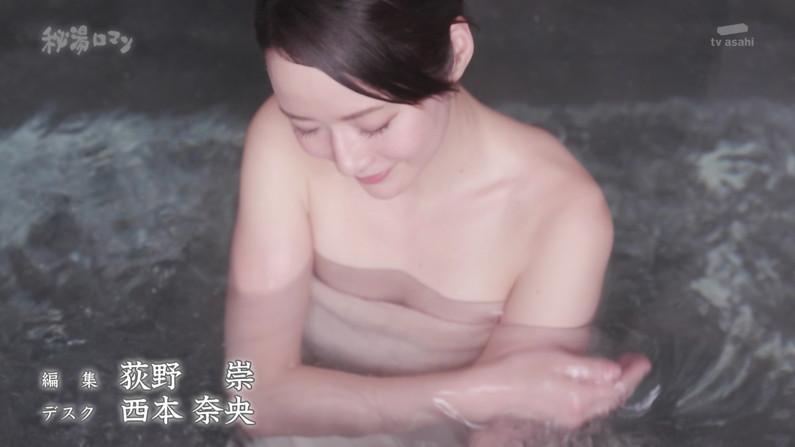 【温泉キャプ画像】やっぱりいつ見てもタレントさん達の入浴シーンってセクシーだよなw