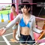 【松山メアリキャプ画像】水着紹介のプールロケが狙いすぎてないビキニ姿でいいwww