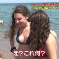 【外国人キャプ画像】スペインのビーチには年齢不詳の巨乳素人さんがたくさんwww