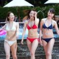 【都丸紗也華キャプ画像】水着姿がエロくて流れるのが楽しみなモンストのCMwww
