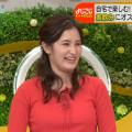 【池谷実悠キャプ画像】ハーフ系の顔立ちが綺麗な女子アナのニット越しオッパイ!