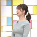 【女子アナキャプ画像】テレ東アナウンサーの着衣おっぱいと透けブラ!